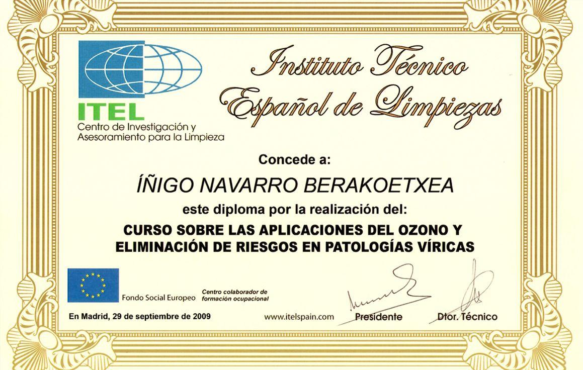 curso sobre las aplicaciones del ozono y eliminación de riesgos en patologías víricas